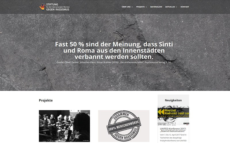 Stiftung Website Referenz