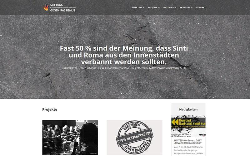 Stiftung Website Referenz