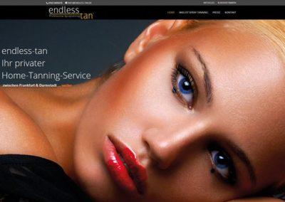 Homepage für Spray Tanning Service