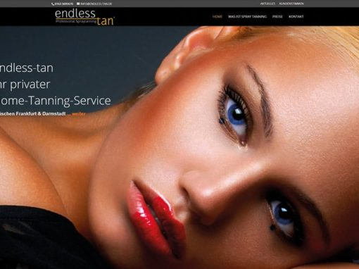 Homepage für Spray Tanning Service