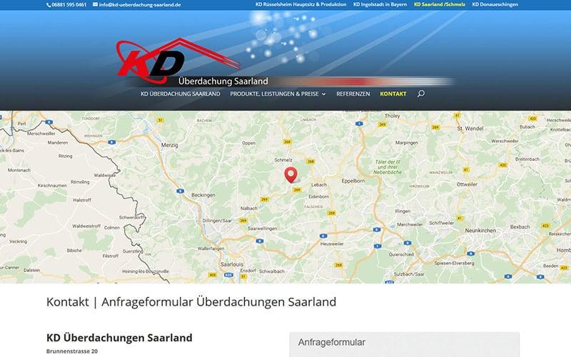Saarland -Überdachung
