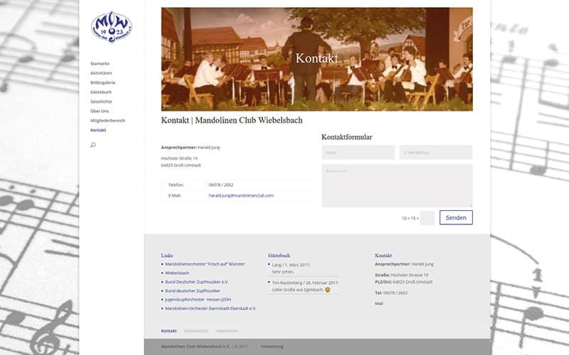 Mandolinen Club Wiebelsbach im neuen Layout
