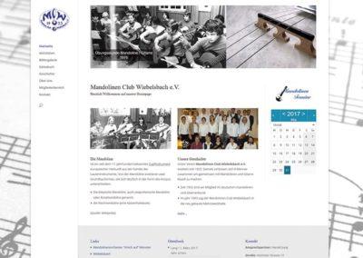 Wiebelsbach   Erstellung einer Vereins-Homepage