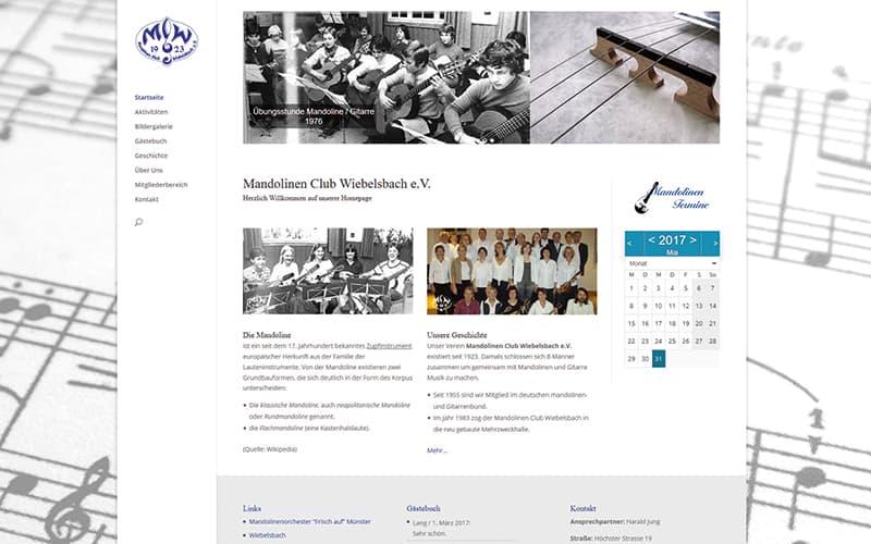 Wiebelsbach | Erstellung einer Vereins-Homepage