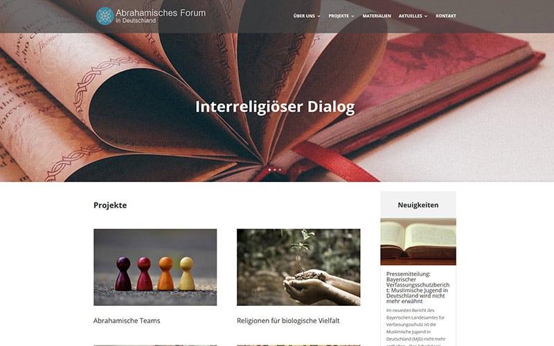 Homepage für ein Forum