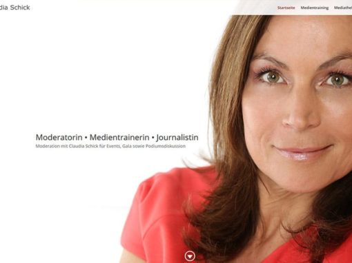 Website für eine Moderatorin • Medientrainerin • Journalistin