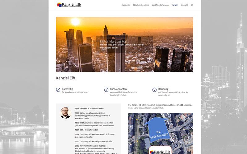 Rechtsanwalt Website Frankfurt
