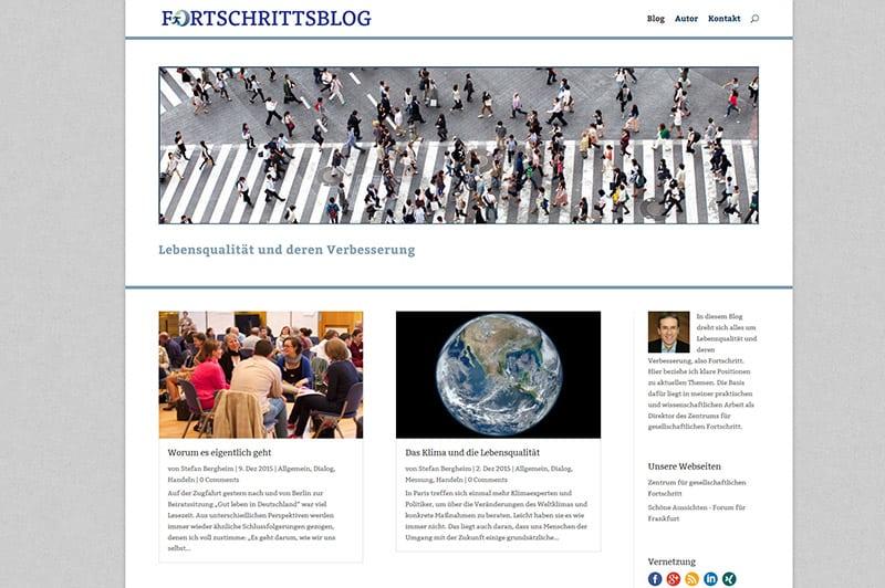 Webdesign für frankfurter Bolg