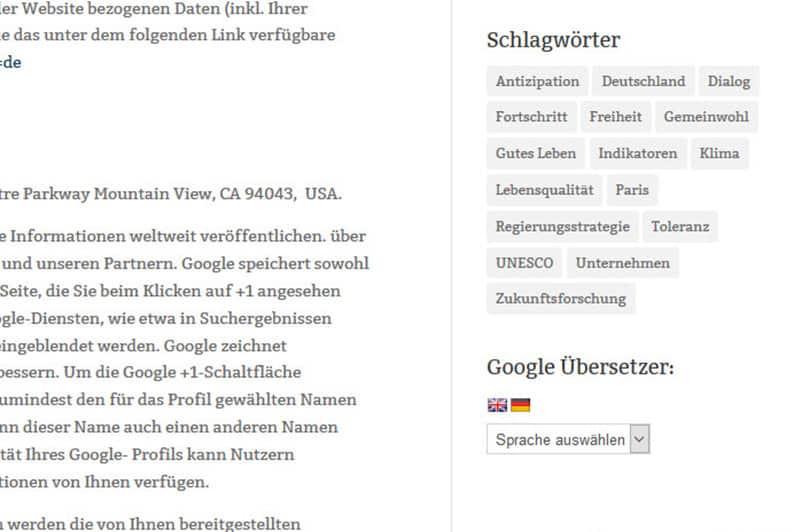 Kostenloses PlugIn Google Übersetzer