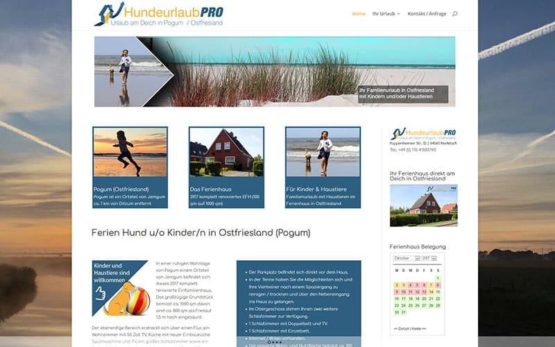 Hundeurlaub Ferienhaus Homepage