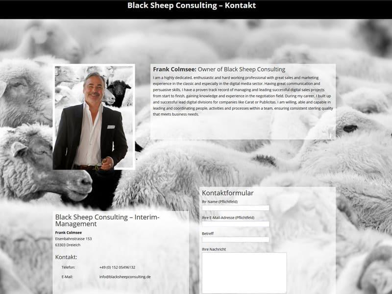 Kontaktseite für neue Homepage Consulting in Dreieich