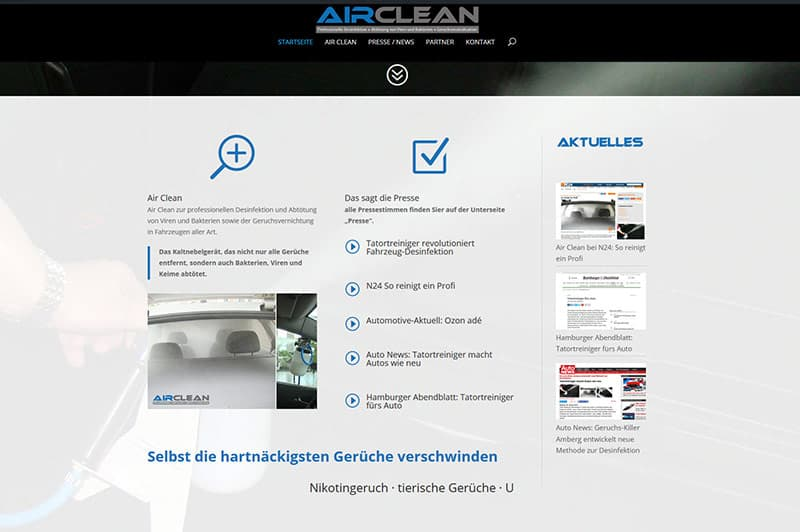 Referenzenseite Air Clean