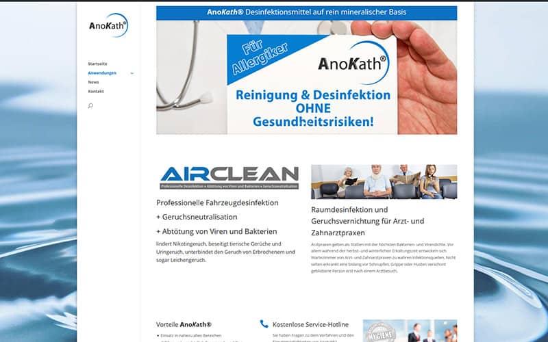 Anokath Kontaktseite