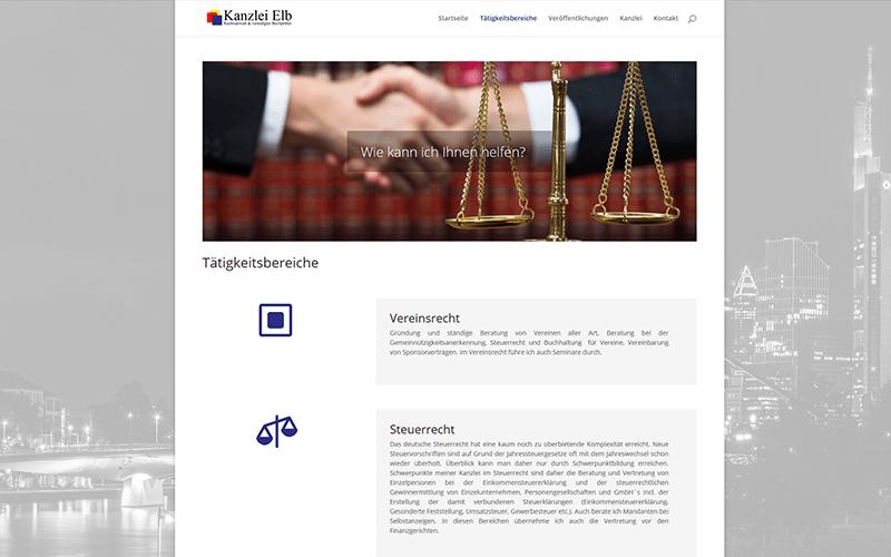 Referenz Rechtsanwalt Website