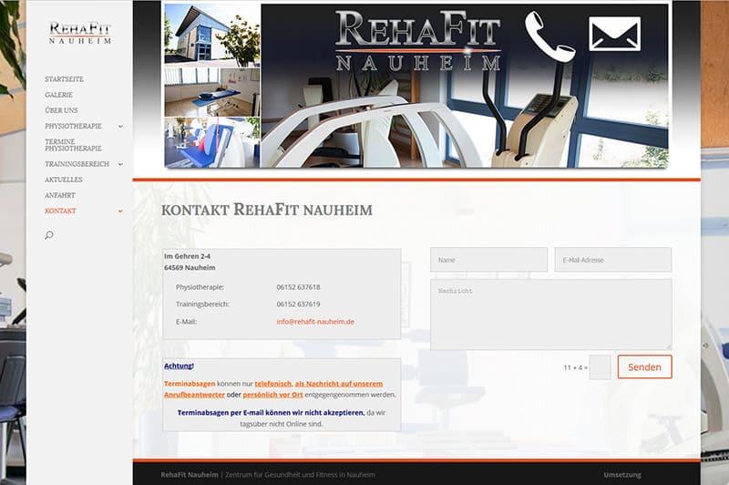 Homepage für Reha