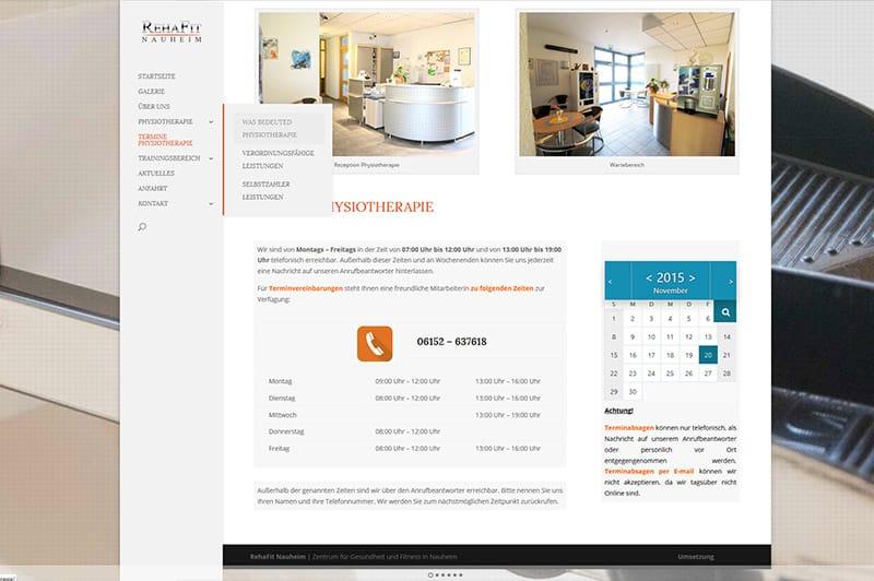 Website erstellen für Fitness Studio