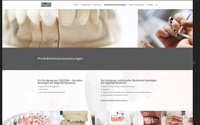Zahnart-Essen-Website