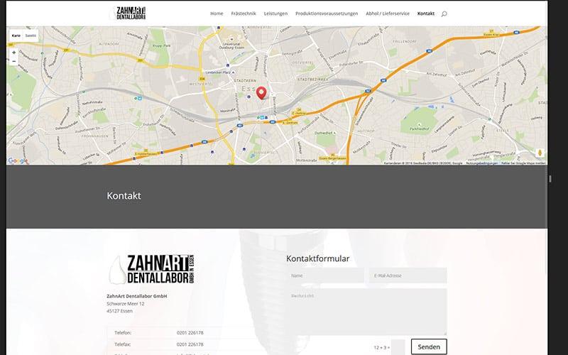 Zahnart-Referenz-Kontakt