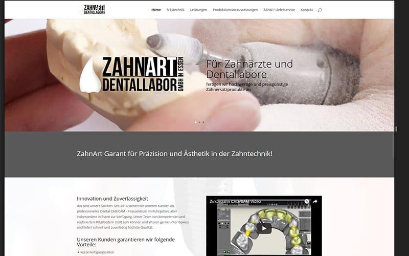 Zahart-Homepage-erstellen