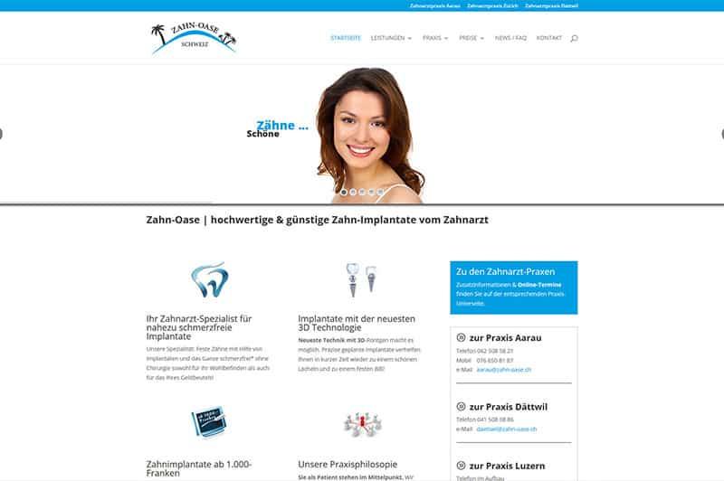 Website/Homepage Zahnarzt