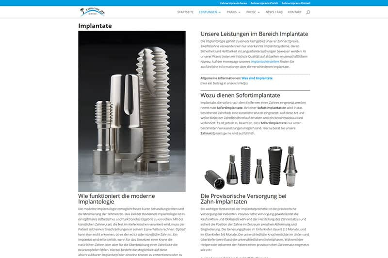 Zahnarzt-Homepage
