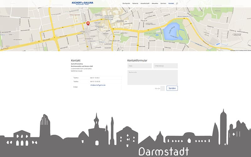 Kanzlei Website Darmstadt