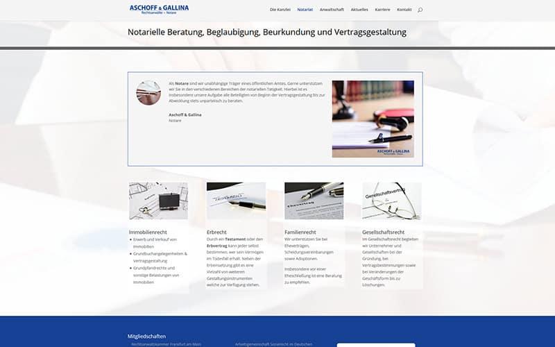 Website für Notar