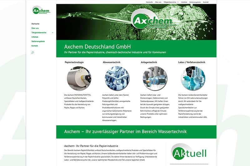 Referenz Website Homepage