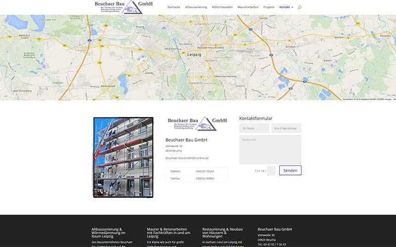 Website für Bauunternehmen