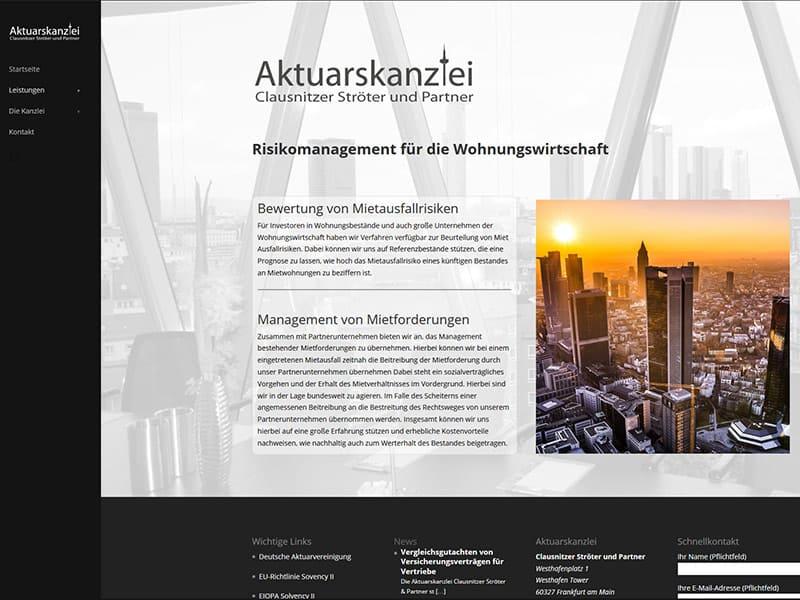 Startseite Aktuarskanzlei FRankfurt