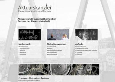 Erstellung der Website für eine Aktuars-Kanzlei in Frankfurt