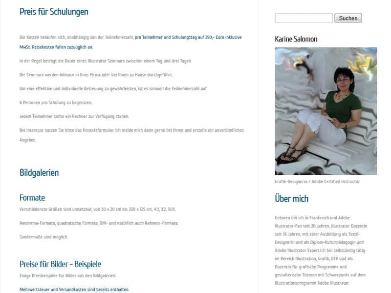 Website für Künstler