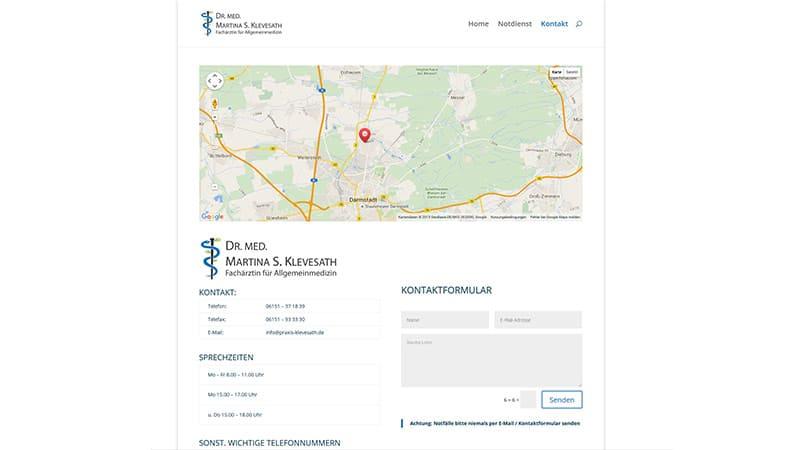 Homepage für Arzt