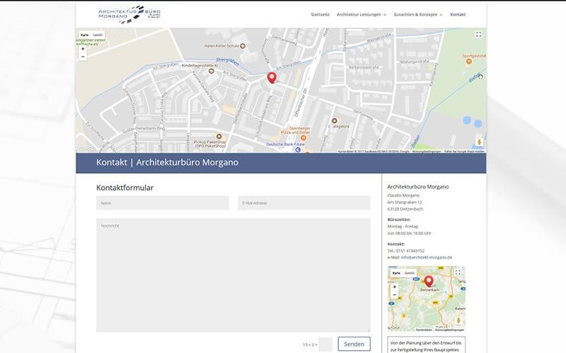 Homepage für einen Architekten