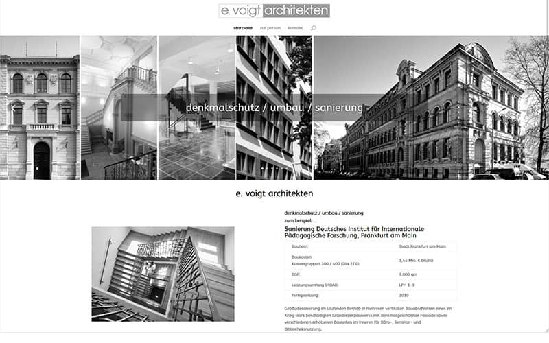 Neue Homepage für einen Architekten aus Neu-Isenburg