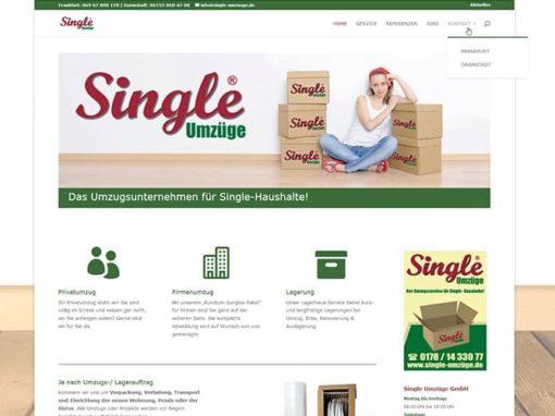 Homepage für eine Umzugsfirma