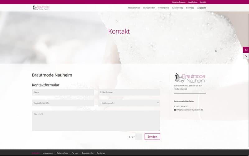 Brautmode Homepage erstellen