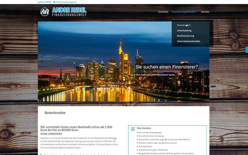 Erstellung Homepage Finanzberatung