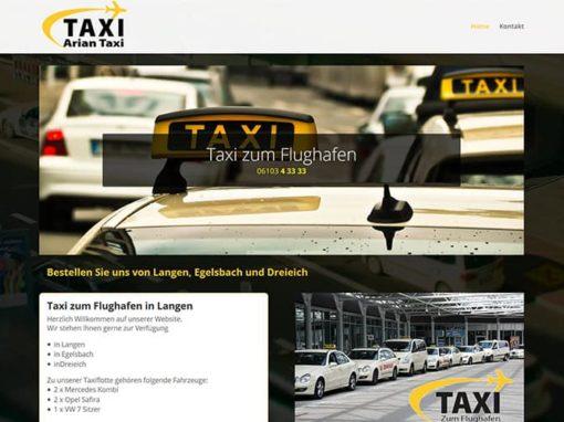 Homepageerstellung für ein Taxi-Unternehmen in Langen