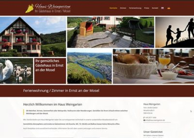 Homepage für ein Gästehaus an der Mosel