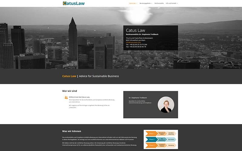Frankfurt: neue Homepage für eine Rechtsanwältin