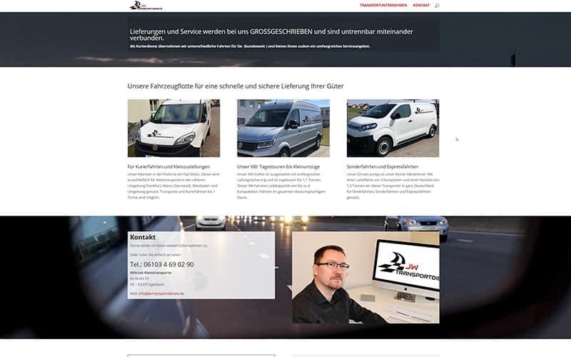 OnePager für ein Transportunternehmen in Egelsbach