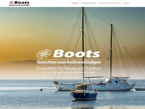 Boots-Gutachten: Neue Website für ein Schweizer Unternehmen