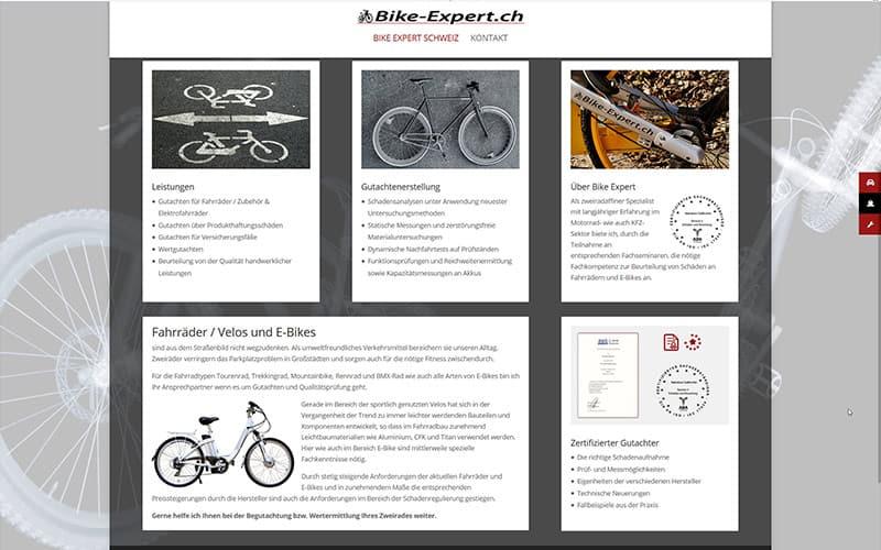 Homepage (Onepager) Bike-Expert