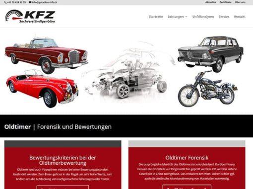 Zusatzprojekt Homepage Rubrik Oldtimer und Forensik