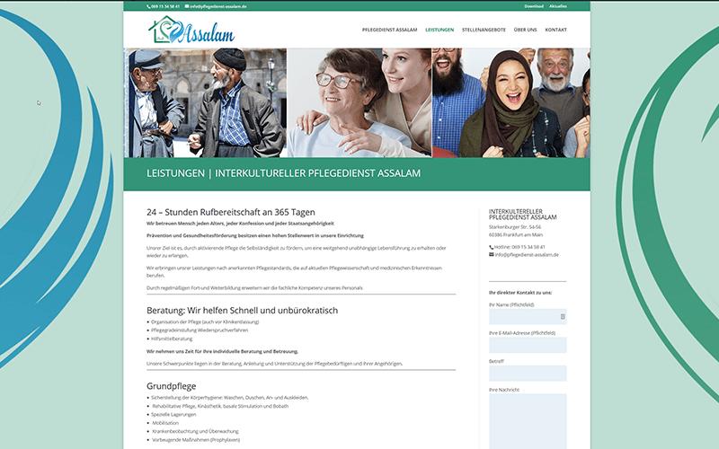 Frankfurt Websiteerstellung Pflegedienst