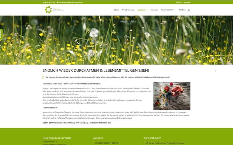 Homepage-Erstellung Naturheilpraxis