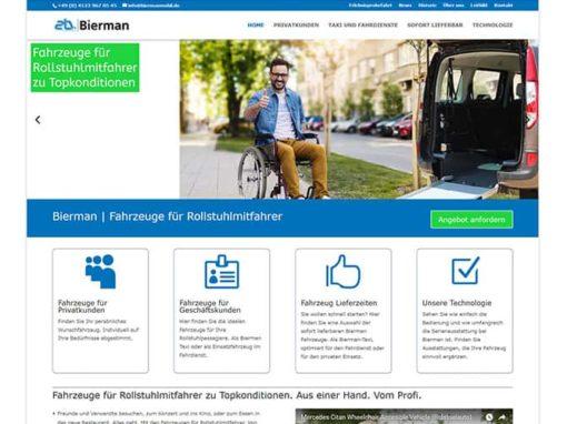 Homepage erstellen für eine Handelsvertretung