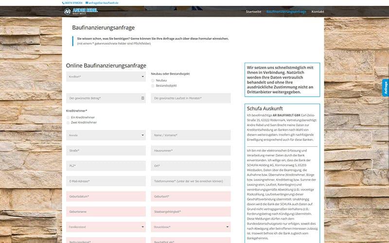 Rödermark: Homepage-Erstellung Baufinanzierung