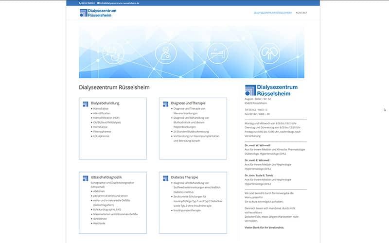 Homepage-Erstellung für einen Arzt aus Rüsselsheim